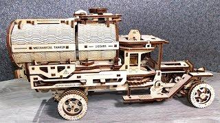 Деревянный конструктор Автоцистерна  от UGEARS (Югерс). 3D конструктор