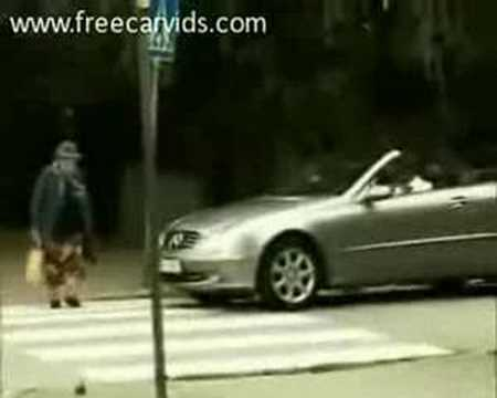 Old Lady Hits Car With Purse