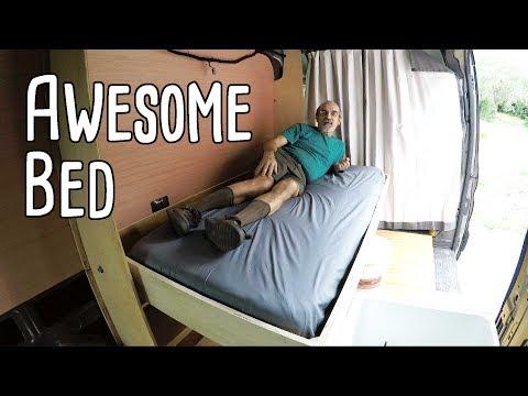 Cargo Van Conversion - Awesome Bed