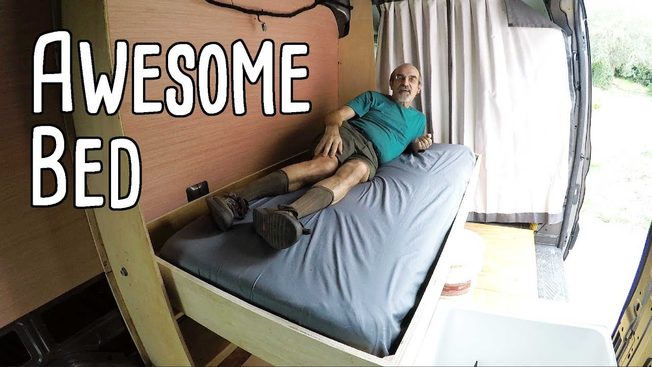 Cargo Van Conversion Awesome Bed Youtube