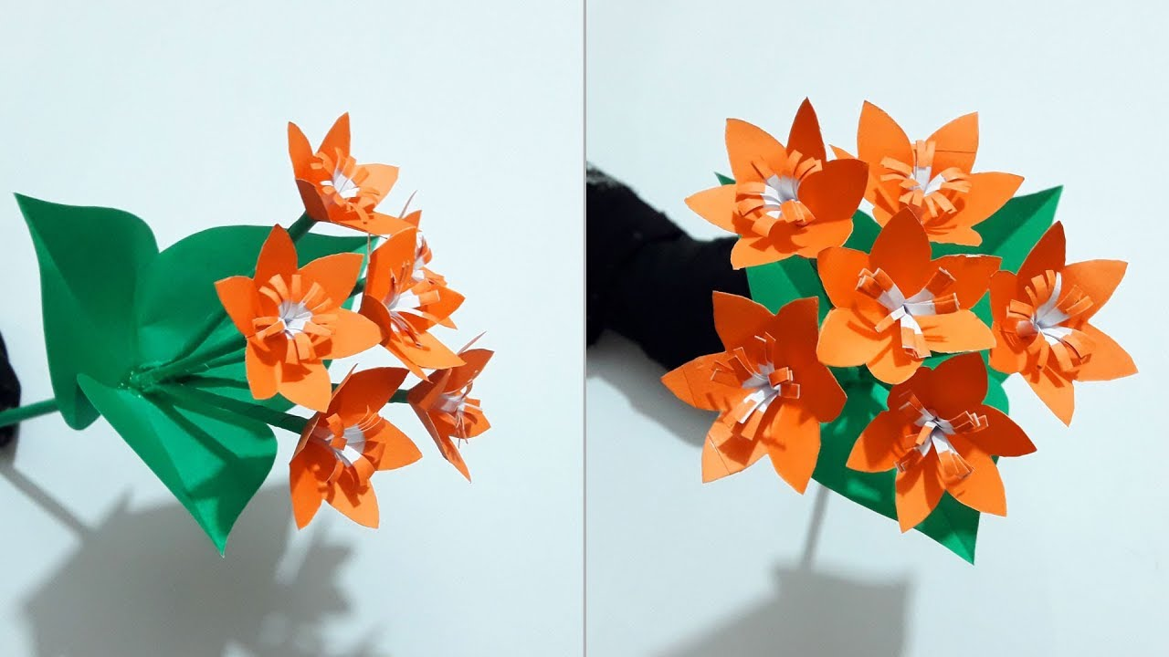 how to make paper flowers easy for kids