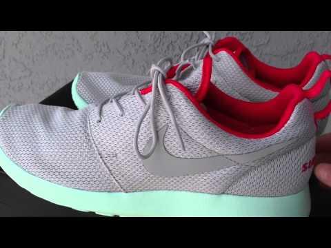 Bangladesh Excavación Necesario  Nike ID- Roshe Run Yeezy Platinum- Sneaker Review & On feet - YouTube