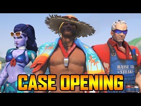 100+ SUMMER GAMES LOOT BOX CASE OPENING! (OVERWATCH SEASONAL EVENT)