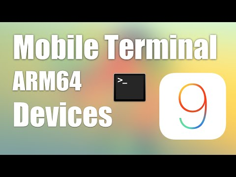 [iOS 9] How to use Mobile Terminal on 64bit Devices