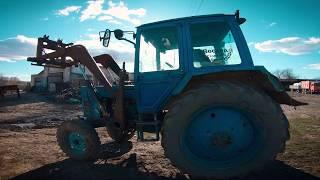 Сел на свой первый рабочий трактор, на котором работал 10 лет назад.