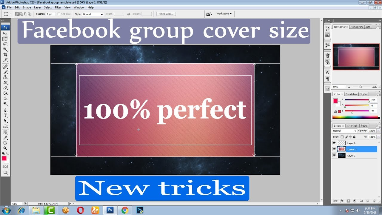 How To Create Facebook Group Cover Photo Real Size New Tricks