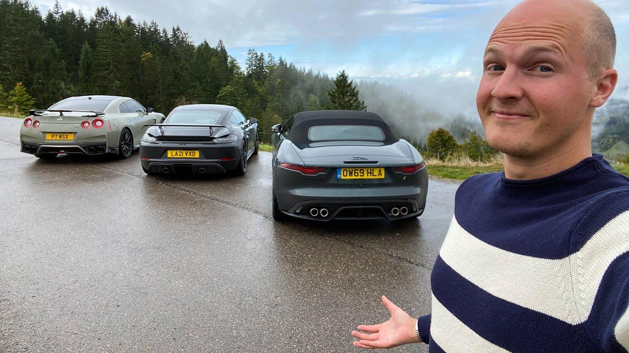 Best £100k Sports Car? F-Type R vs 718 GT4 vs Nissan GT-R