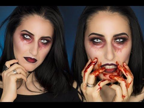 HALLOWEEN Makeup Tutorial Sexy Vampire 👻🎃 | Halloween trucco vampira Sexy semplice| pnmakeup
