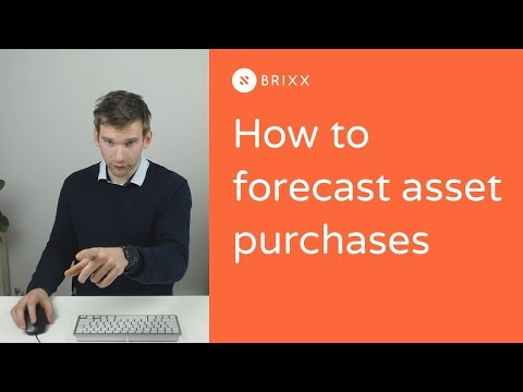 Getting started with Brixx part 5: How to forecast asset purchases