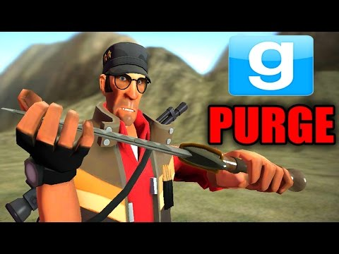 GMOD THE PURGE - MURDER EVERYONE!! Garry's Mod SCARY HUNGER GAMES!! | (GMOD Gameplay)
