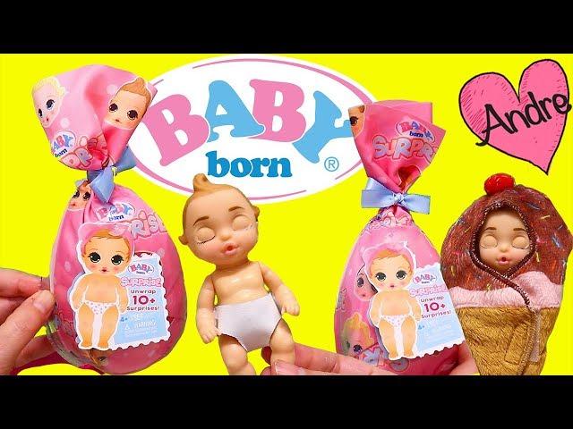 Andre jugando con Baby Born Surprise y abriendo muñecas y juguetes para niñas y niños