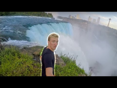 FALLING OFF NIAGARA FALLS WATERFALL!