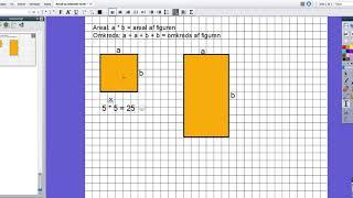 Areal og omkreds af kvadrat og rektangel