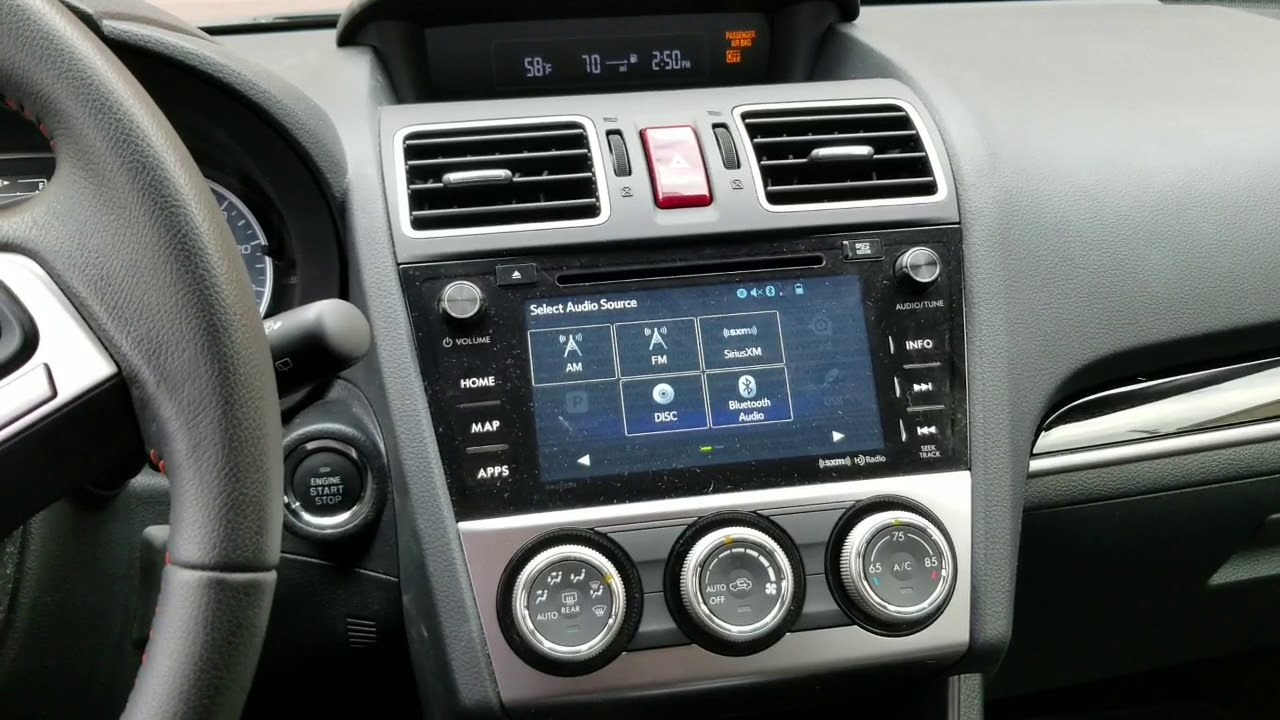 How to get to Subaru Radio service menu