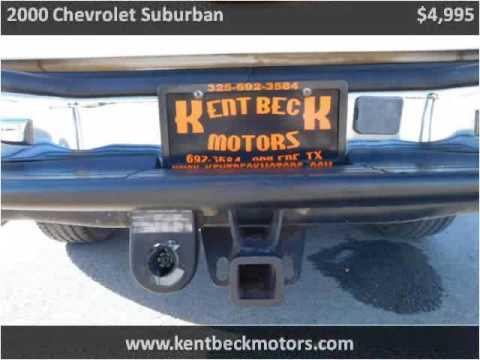2000 chevrolet suburban used cars abilene tx youtube for Kent beck motors abilene