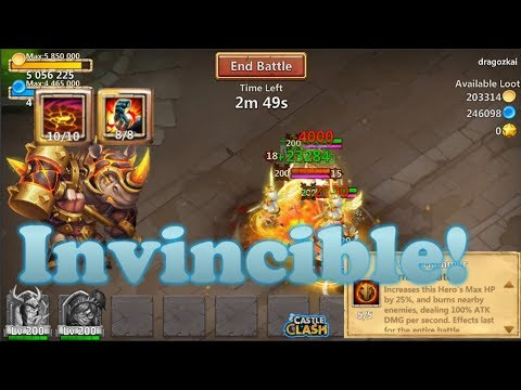 INVINCIBLE ROCKNO! Vs Skull Knight, Mechtessa And Ronin - Castle Clash