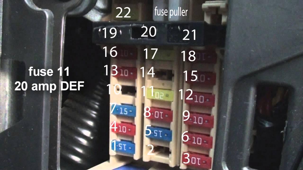 2015 nissan versa fuse box interior