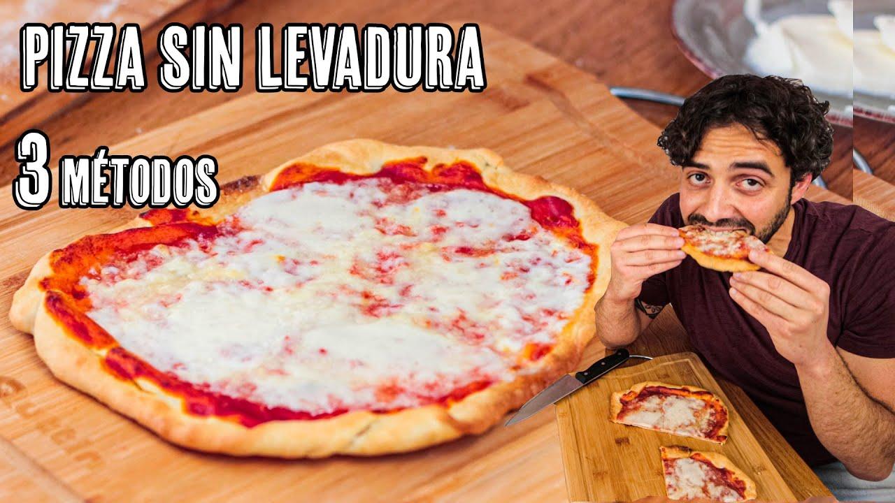 Masa de Pizza Sin Levadura con Borde Crujiente - 3 Métodos que Funcionan