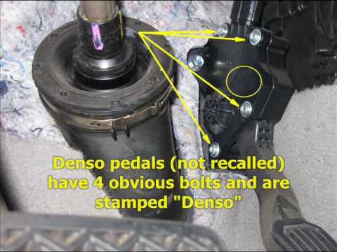 Toyota Throttle Pedal Recall: How to Tell Which One You ...
