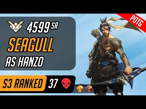 Seagull as Hanzo in King's Row [Season 3 – Grand Master – 37 eliminations]