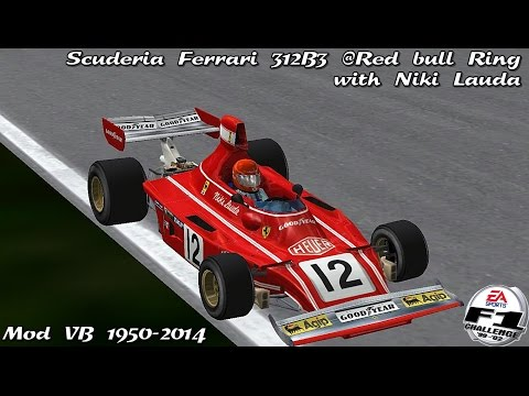 [F1C] Scuderia Ferrari SpA SEFAC 312B3 @ Red Bull Ring Night with Niki Lauda (Mod VB 1950-2014) [HD]