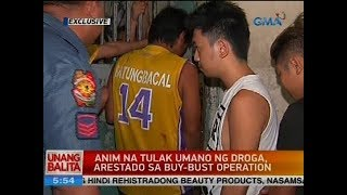 Anim na tulak umano ng droga, arestado sa buy-bust operation