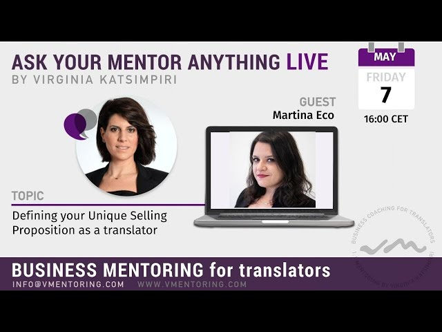 Ask Your Mentor Anything Live with Virginia Katsimpiri FT. Martina Eco