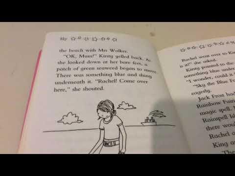 Reading Sky the Blue Fairy Rainbow Magic Book