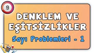 Sayı Problemleri 1  Denklem ve Eşitsizlikler 32  9.Sınıf Matematik