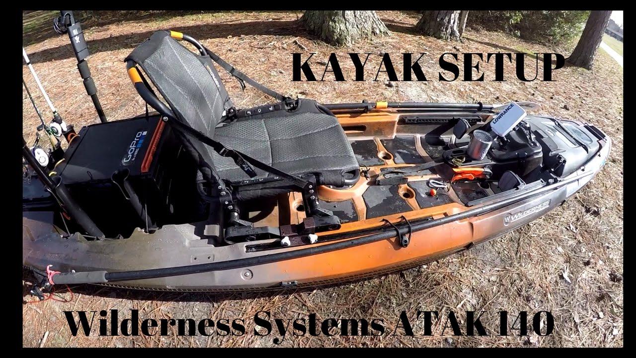 Fishing Kayak Setup Gear Wilderness Systems Atak 140