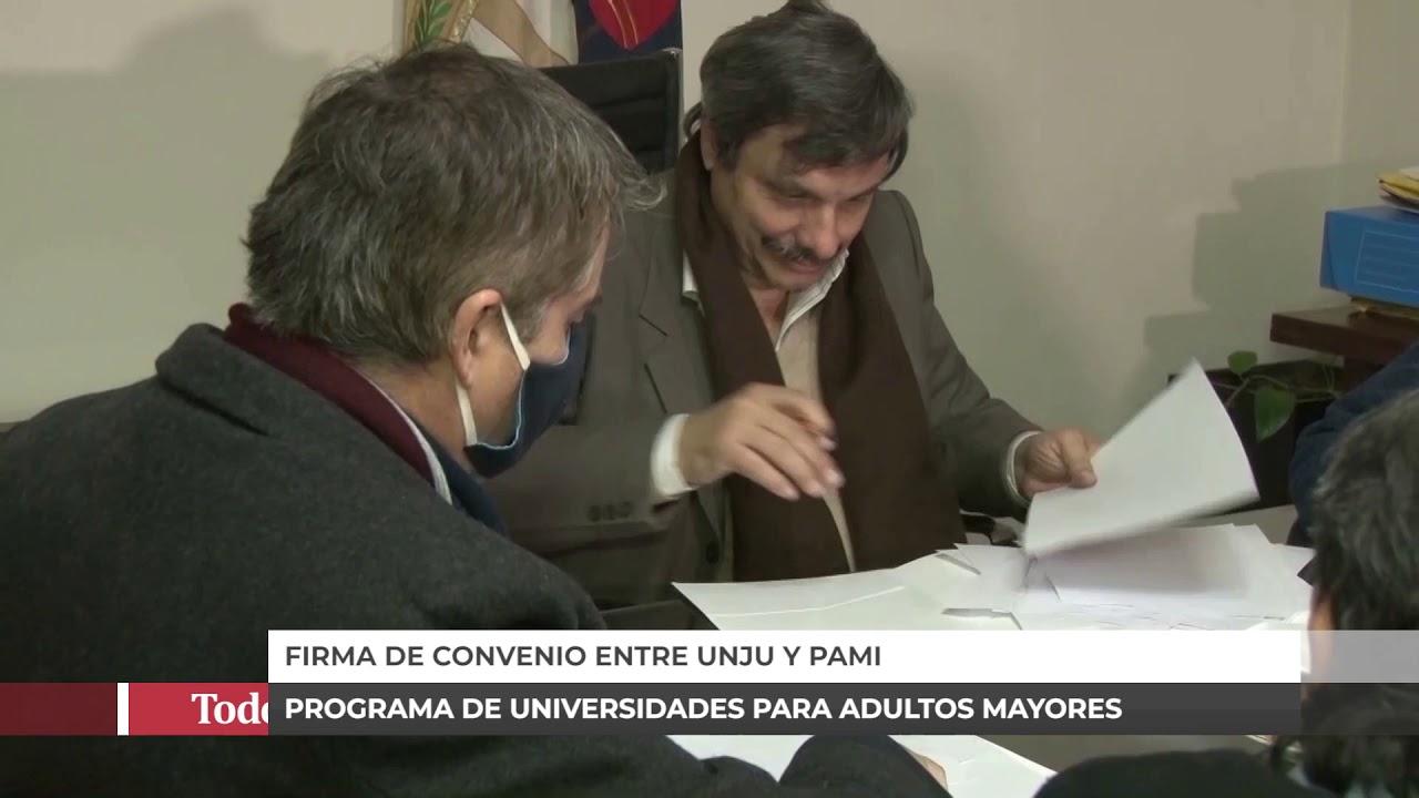 CONVENIO ENTRE EL PAMI Y LA UNJU PARA AYUDAR A LOS ADULTOS MAYORES
