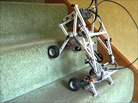 Mindclimber Nxt Mindstorms Robot Climb Stairs Youtube