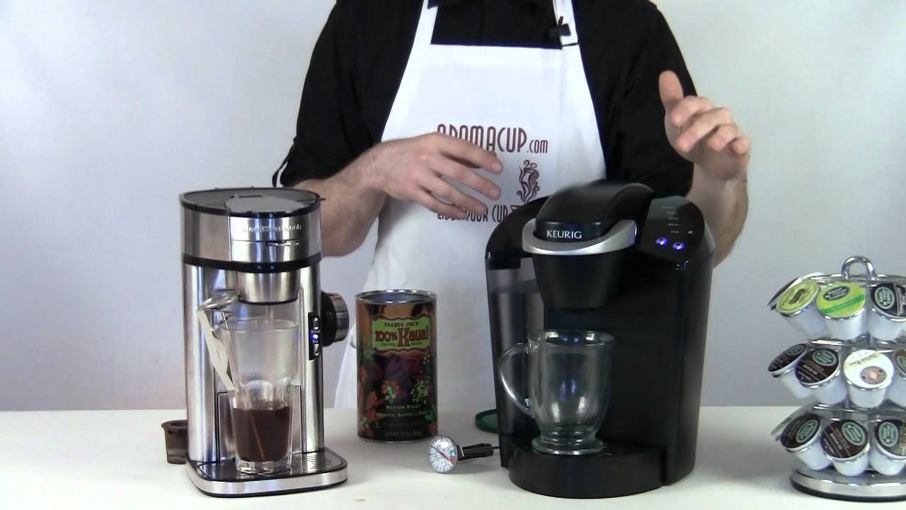 How Many Scoops In Coffee Maker : Keurig brewer vs Scoop Hamilton Beach coffee maker - YouTube