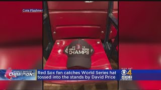 'Really Lucky' Red Sox Fan Catches David Price's World Series Champs Hat