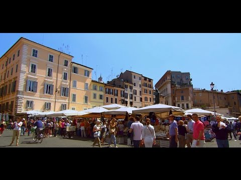 Rome, Italy: Spanish Steps and Campo de' Fiori