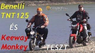 Benelli TNT125 és Keeway Monkey teszt - Onroad.hu