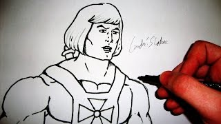 he man drawing lesson