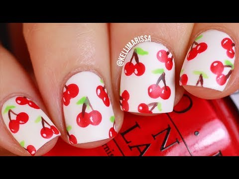 Summer Cherry Nail Art ... - Summer Cherry Nail Art Design Tutorial (easy!) |KELLI MARISSA