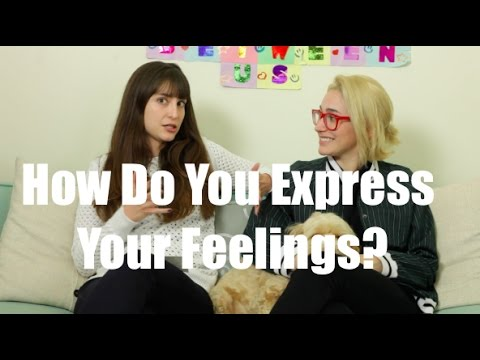 How do you express your feelings to a guy