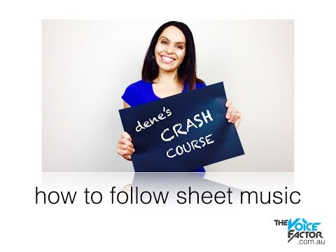 How To Sing: How To Follow Sheet Music