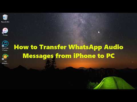 How To Transfer WhatsApp Audio Messages From IPhone To PC