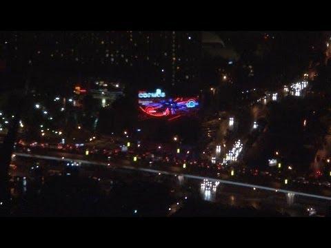 Panorama nocturne de Moscou vu depuis la tour de télévision d'Ostankino