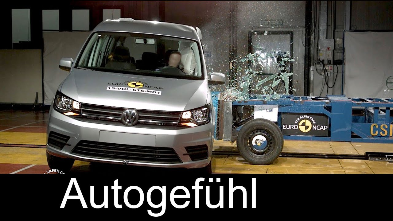 volkswagen vw caddy crash test 4 stars euro ncap 2016. Black Bedroom Furniture Sets. Home Design Ideas
