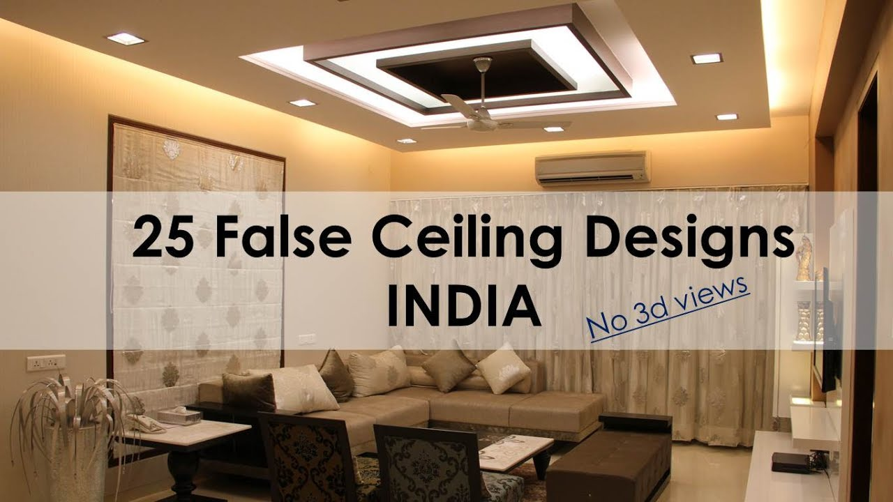 False ceiling designs india for living room dining for Best living room designs india