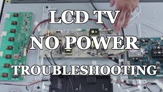 LCD TV Repair - No Power, Power Supply Common Symptoms & Solutions - How to Replace Power Supply