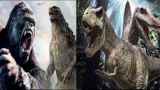 Kong & Godzilla vs T-Rex & Spinosaurus (HD)