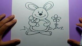 Como dibujar un conejo paso a paso  | How to draw a rabbit