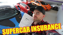How much does Insurance Cost for a Supercar Collection??
