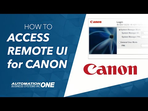 How to access the Remote UI of a Canon imageRUNNER Advance series