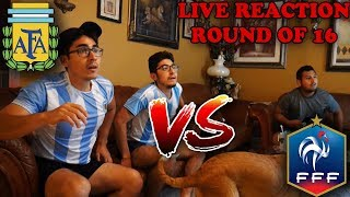 Argentina vs France 2018 World Cup | Fan Reactions | Messi out and Ronaldo Out!